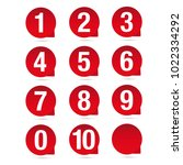number set red vector label | Shutterstock .eps vector #1022334292