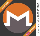 monero sign flat icon for web ...