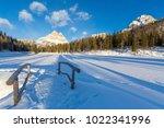 tre cime di lavaredo  dolomites ... | Shutterstock . vector #1022341996