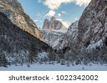 tre cime di lavaredo  dolomites ... | Shutterstock . vector #1022342002