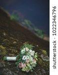 wedding bouquet. bride's... | Shutterstock . vector #1022346796