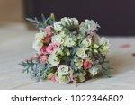 wedding bouquet of flowers on... | Shutterstock . vector #1022346802