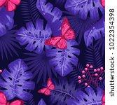 uv ultra violet luminous neon... | Shutterstock .eps vector #1022354398