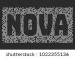 Stylized Word Nova On A Dark...