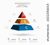infographic template. vector... | Shutterstock .eps vector #1022356015