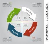 infographic template. vector... | Shutterstock .eps vector #1022356036