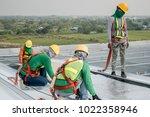 construction worker wearing...   Shutterstock . vector #1022358946