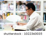 the professor is searching for... | Shutterstock . vector #1022360035