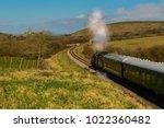 Swanage Steam Train Traveling...