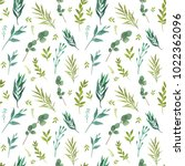 seamless pattern with green... | Shutterstock . vector #1022362096