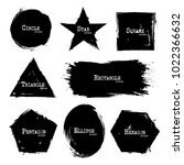 set of geometry shapes . grunge ... | Shutterstock .eps vector #1022366632
