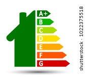 energy efficient house concept...   Shutterstock .eps vector #1022375518