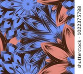 seamless floral background.... | Shutterstock .eps vector #1022375788