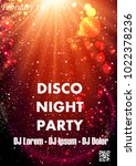 disco night party vector poster ... | Shutterstock .eps vector #1022378236