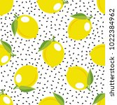 lemon pattern. seamless... | Shutterstock .eps vector #1022384962