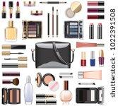 vector makeup cosmetics with... | Shutterstock .eps vector #1022391508