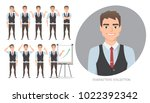 set of emotions for business... | Shutterstock .eps vector #1022392342