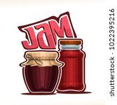vector illustration of fruit jam | Shutterstock .eps vector #1022395216