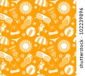 vector beach pattern for summer | Shutterstock .eps vector #102239896