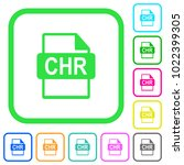 chr file format vivid colored... | Shutterstock .eps vector #1022399305