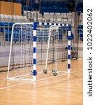 gates for handball | Shutterstock . vector #1022402062
