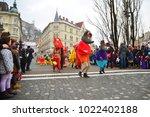 ljubljana  slovenia on february ...   Shutterstock . vector #1022402188