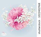 modern floral vector  art  ... | Shutterstock .eps vector #1022402968