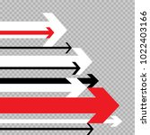 different arrows move forward... | Shutterstock .eps vector #1022403166