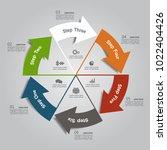 infographic template. vector... | Shutterstock .eps vector #1022404426