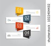 infographic template. vector... | Shutterstock .eps vector #1022404432