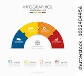 infographic template. vector... | Shutterstock .eps vector #1022404456