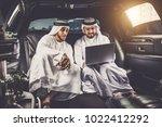 arabic businessmen in dubai | Shutterstock . vector #1022412292