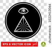 pyramid eye eps vector icon.... | Shutterstock .eps vector #1022413066