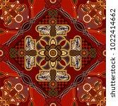 vector ornamental pattern ... | Shutterstock .eps vector #1022414662