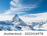 Scenic View On Snowy Matterhor...