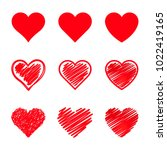 Vector Hearts Set. Different...