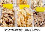 Stock photo dog favourite food with bone shoe and stick shapes 102242908
