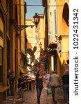 bologna  italy   august 27 ... | Shutterstock . vector #1022431342
