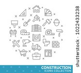 collection of construction thin ... | Shutterstock .eps vector #1022433238