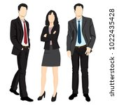 men and woman standing. people... | Shutterstock .eps vector #1022435428
