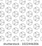 seamless ornamental vector... | Shutterstock .eps vector #1022446306