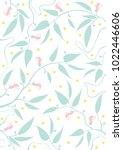 Stock vector floral leave pattern art illustration 1022446606