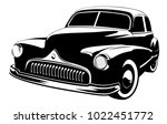 old vintage car isolated on... | Shutterstock .eps vector #1022451772