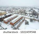 high level of snow storm ... | Shutterstock . vector #1022459548