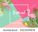 cute summer abstract frame... | Shutterstock .eps vector #1022459878