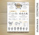 vintage bakery menu design.... | Shutterstock .eps vector #1022461966