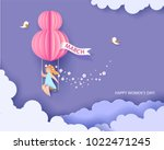 card for 8 march womens day.... | Shutterstock .eps vector #1022471245