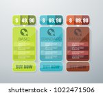 price list widget with 3...