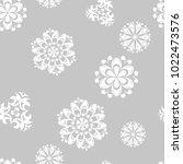 white flowers on gray... | Shutterstock .eps vector #1022473576