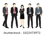 men and woman standing. people... | Shutterstock .eps vector #1022473972